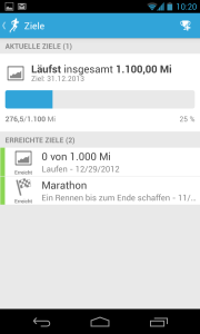 RunKeeper Goals in German