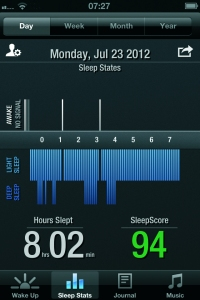 Gear4 Renew sleep data in the SleepClock iOS app
