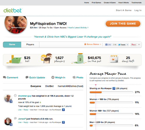 DietBet screenshot
